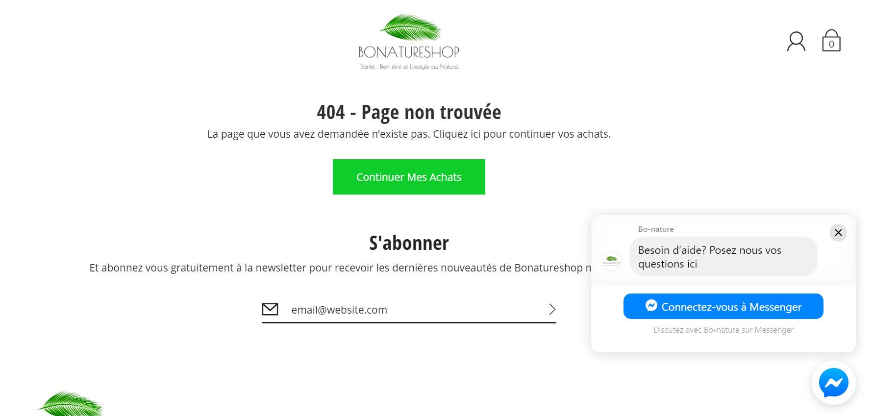 erreurs 4040 site e-commerce rupture de stock produit saisonnier