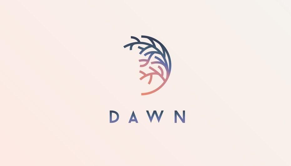logo violet bleu degradé
