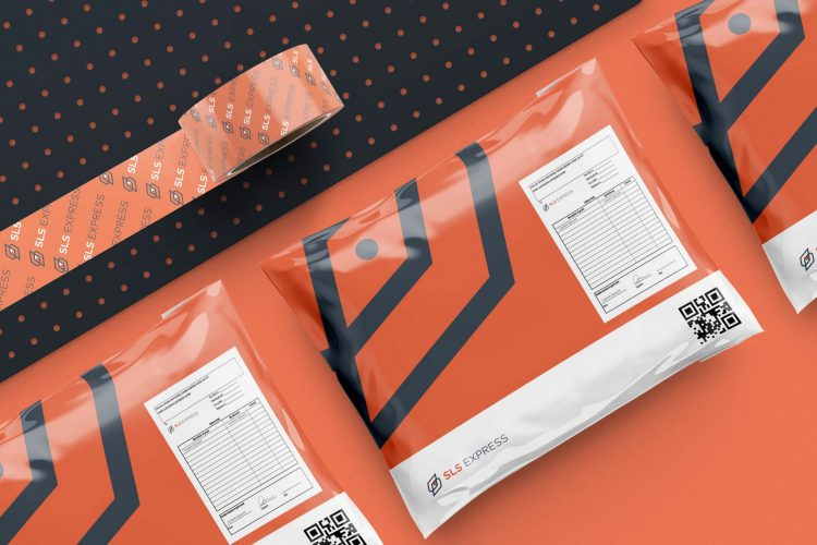 logo rouge orange noir blanc