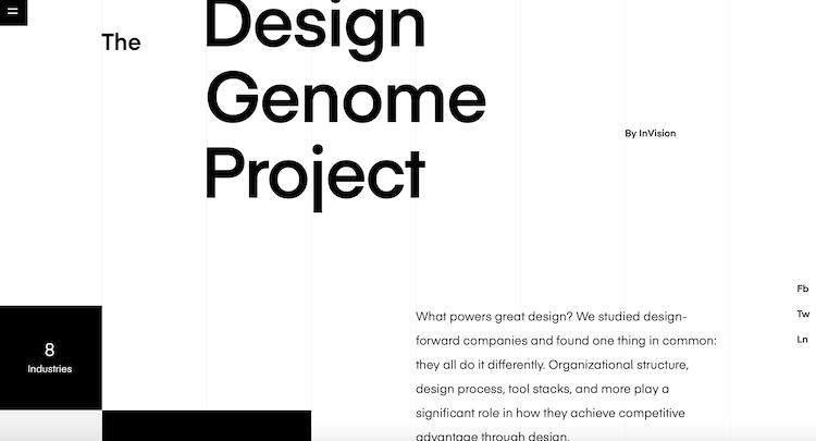 webdesign minimaliste