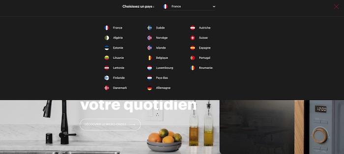 options linguistiques Schneider Electrics
