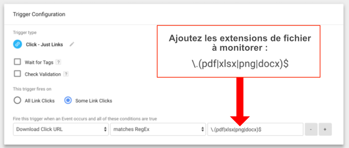 Google Tag Manager tracking documents