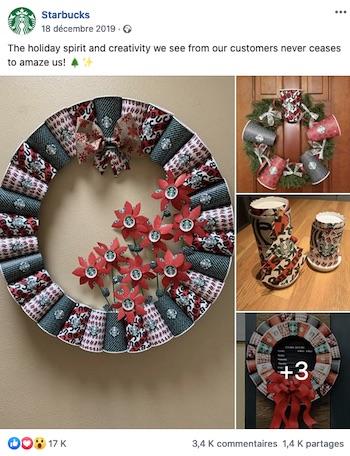 Starbucks packaging Noel user generated content