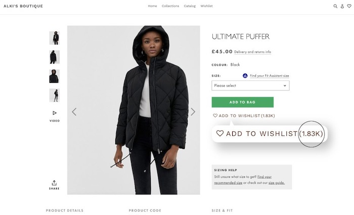 WishList Plus plugin augmenter les conversions Shopify