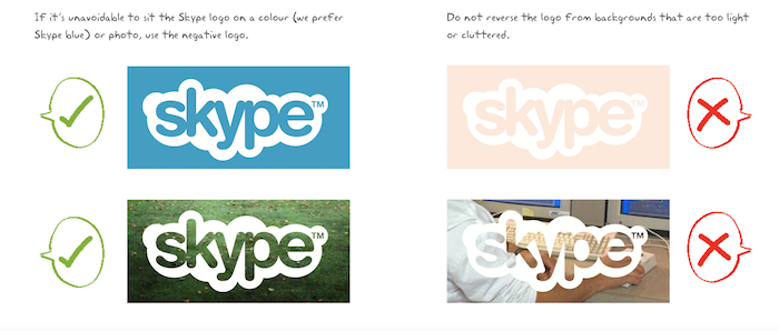charte graphique skype logo