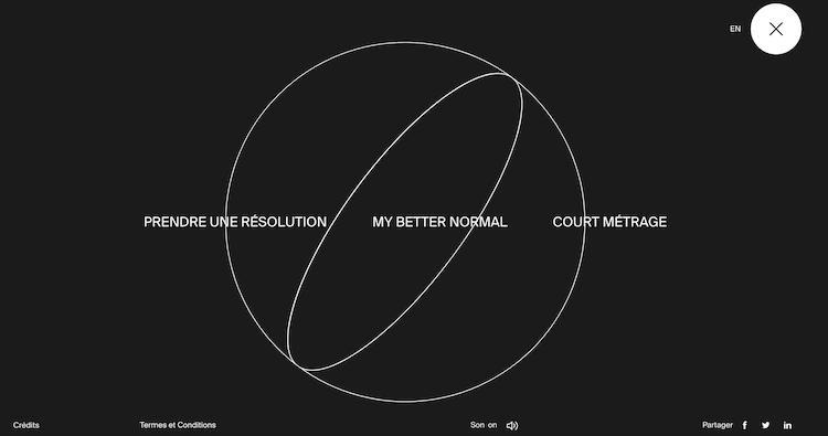 inspiration de header et menu pour graphiste freelance