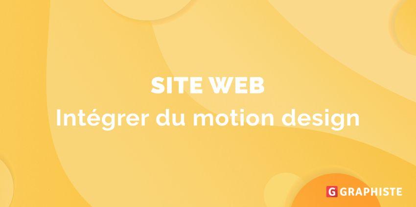 Motion design site web