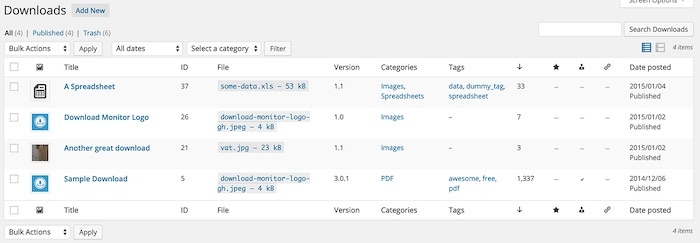 plugin WordPress téléchargement de fichiers