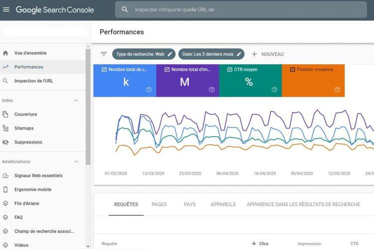 outils SEO mot-clé suivi positionnement Search Console