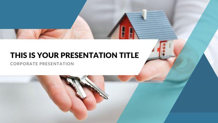 template gratuit pour présentation keynote sur Mac free mockup powerpoint pour agent immobilier