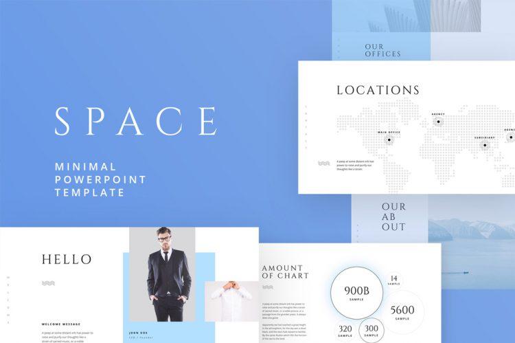 template gratuit pour présentation keynote sur Mac free mockup powerpoint space