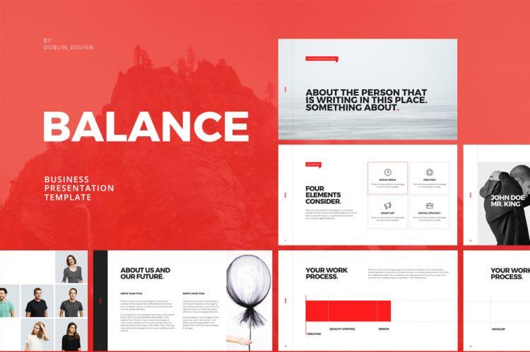 template gratuit pour présentation keynote sur Mac free mockup powerpoint blanc et rouge