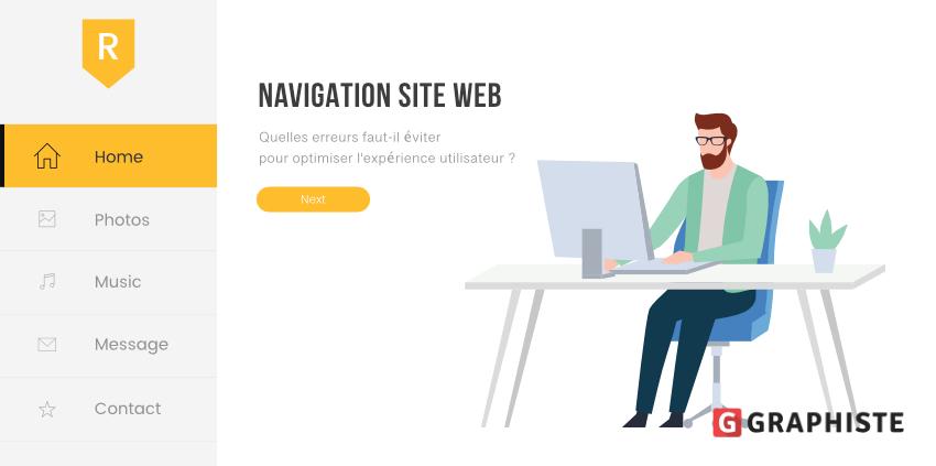 Erreurs navigation site web