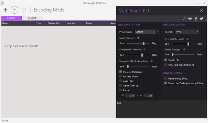 format webP image convertir outils