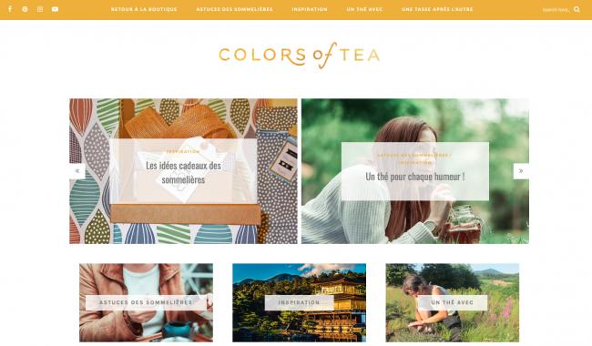 blog sur le thé sujet de niche