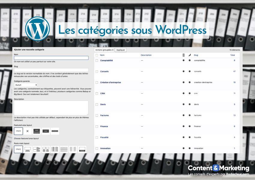 Les catégories sous WordPress