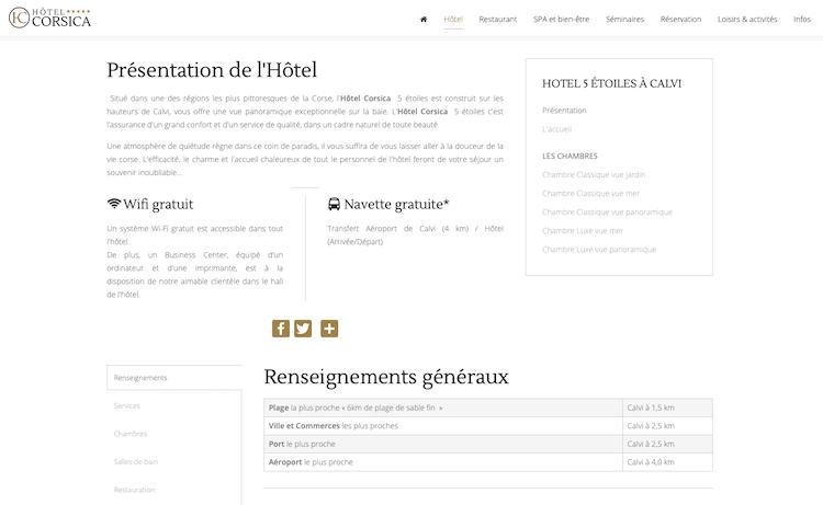 presentation description hotel SEO