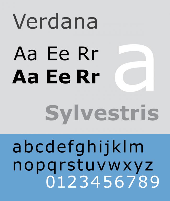 typographie Verdana