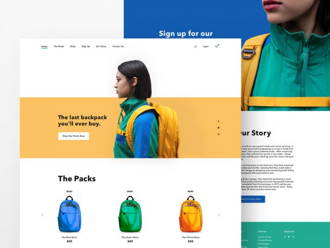 landing page exemple
