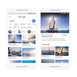 Google Images va protéger les photos sous licence