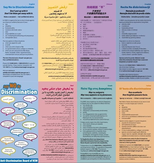 brochure multilingue