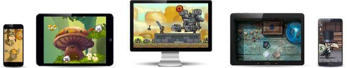 outil de développement de jeu mobile Game Salad