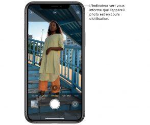 iPhone : que signifie le point vert ou orange en haut de votre écran