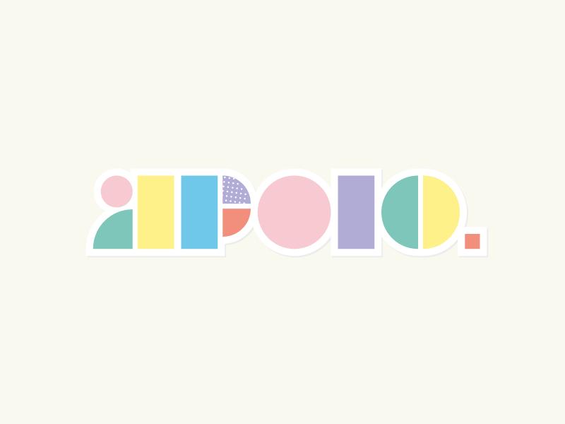 logo pastel couleur