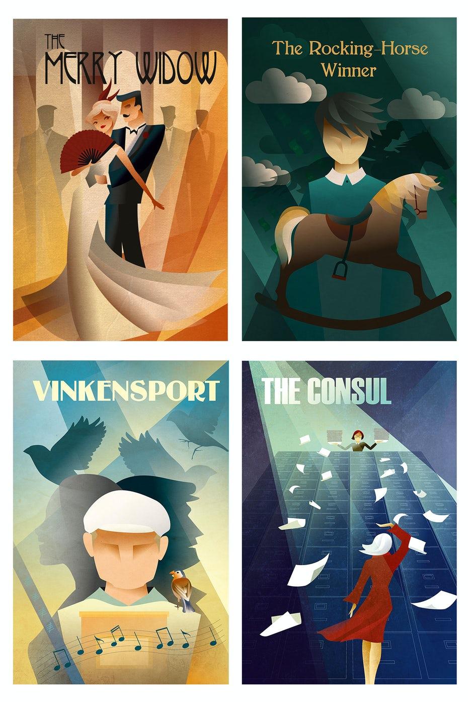 art deco poster affiche