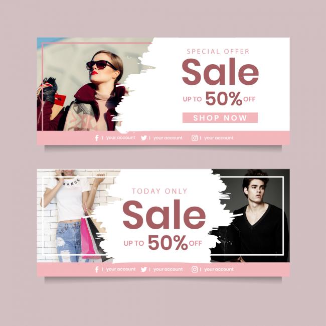 bannière mode banner ads pour graphiste