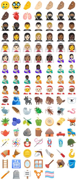 Découvrez les 117 nouveaux emojis Android