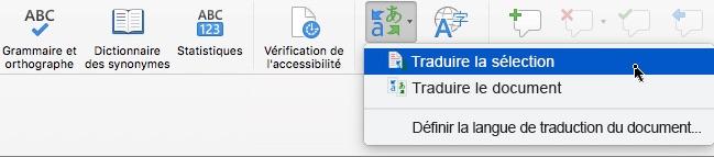 Traduction dans Excel Windows