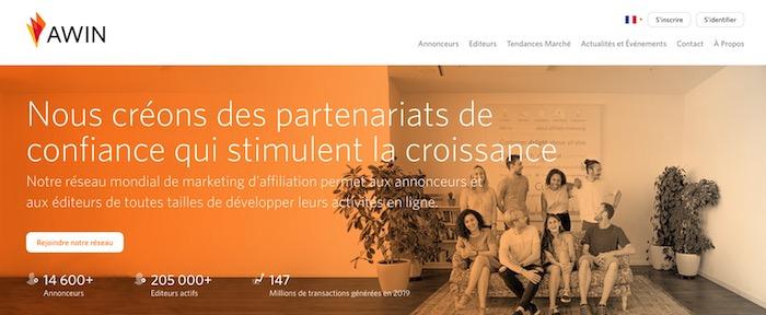 Awin plateforme d'affiliation marketing