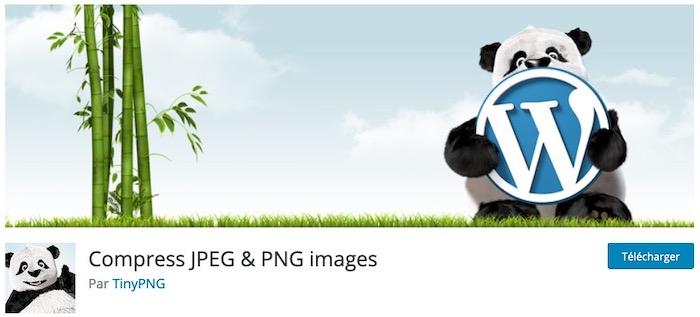 Tiny PNG plugin de compression d'images WordPress