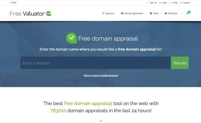 Freevaluator outil d'estimation de nom de domaine