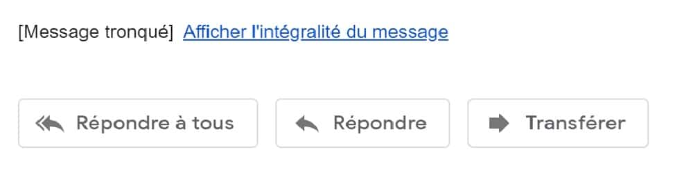 email tronqué Gmail