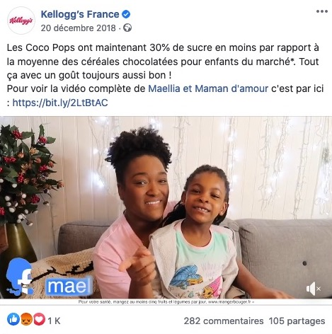 Kellogs marketing influence parents enfants