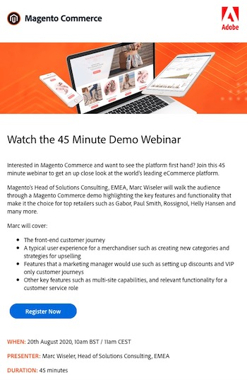 email automation webinaire