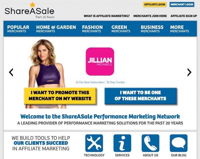 ShareASale plateforme d'affiliation marketing