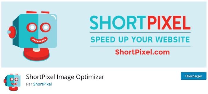 ShortPixel plugin de compression d'images WordPress