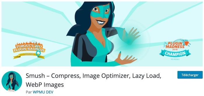 WP Smush plugin de compression d'images WordPress