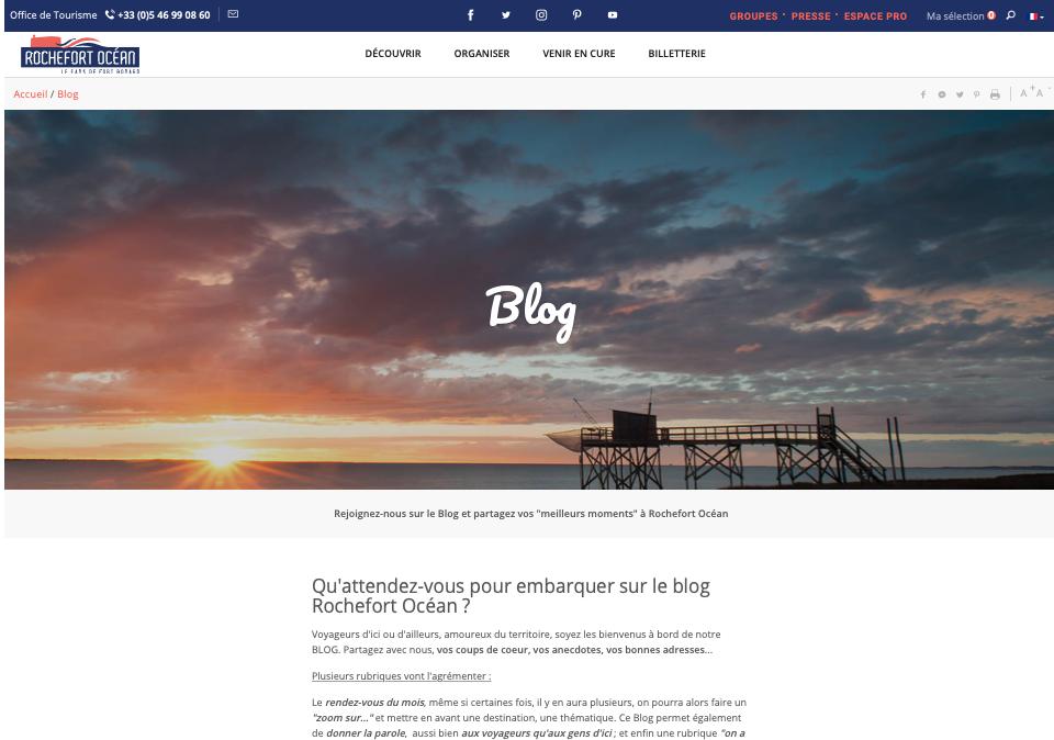 blog office du tourisme contenu local