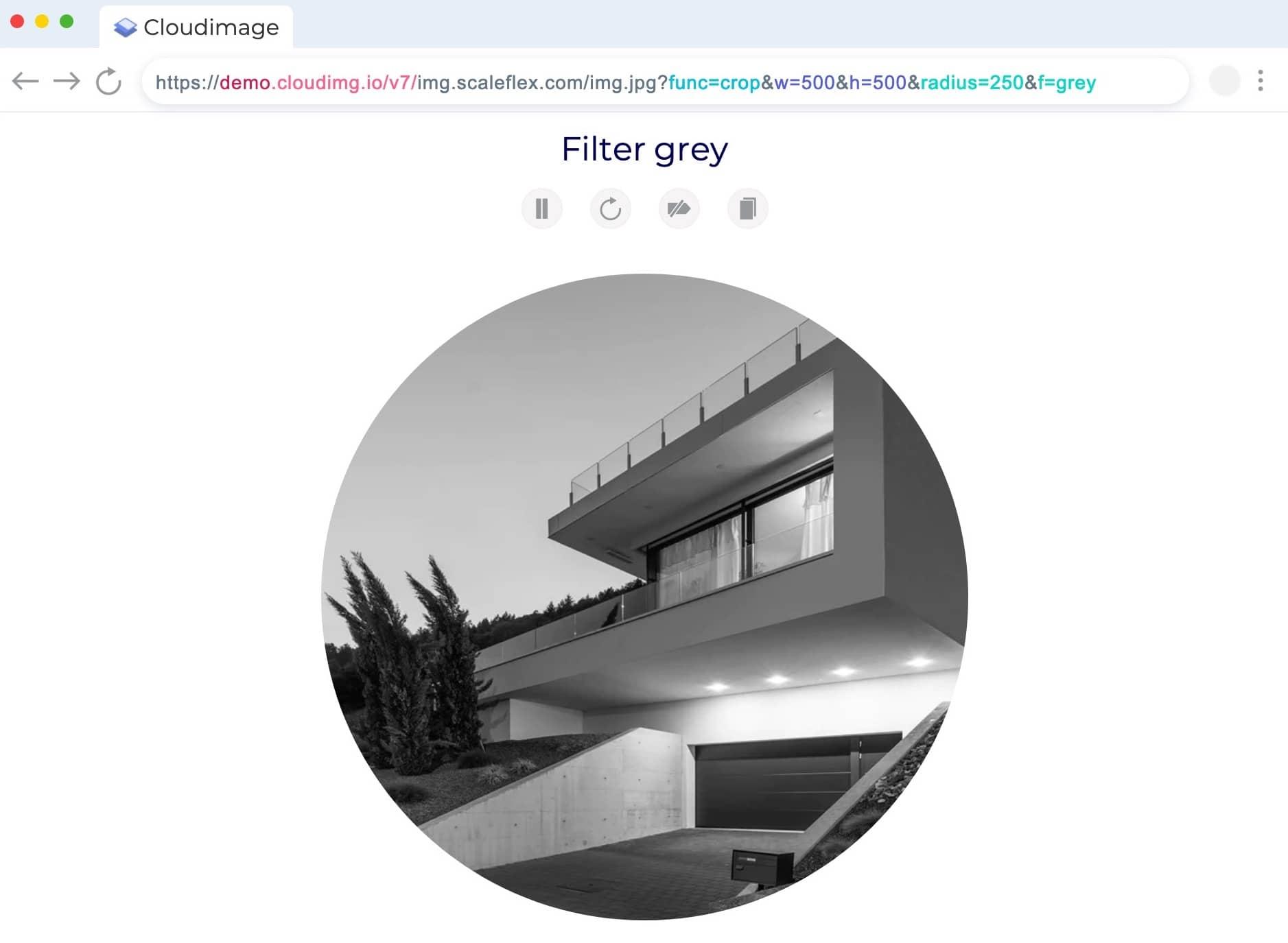 Cloudimage personnalisation des visuels via l'url