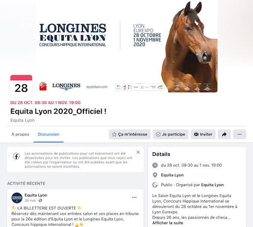 événement facebook Equita