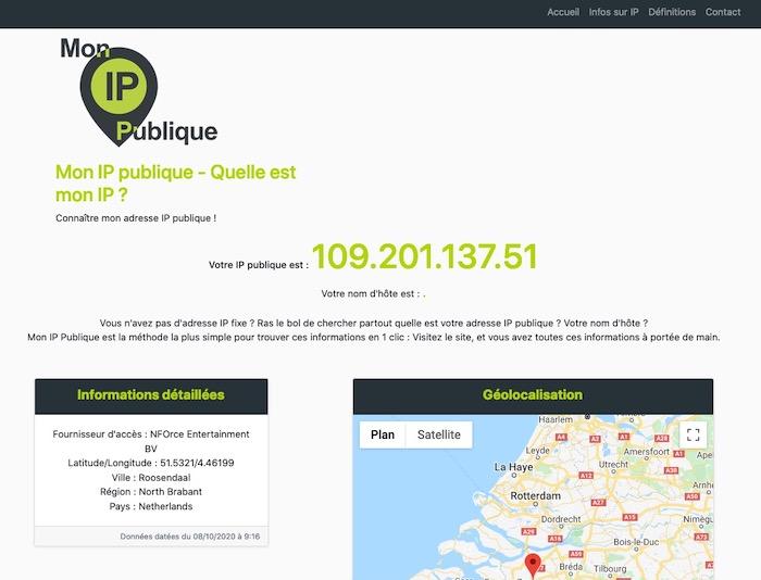 MonIPpublique site géolocalisation adresse IP