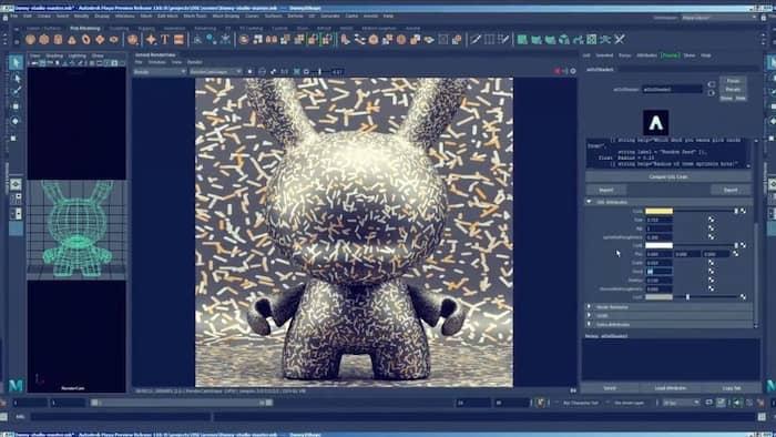 logiciel de modélisation 3D Maya