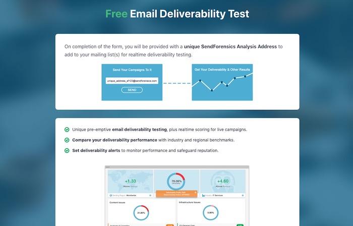 Send Forensics outil test délivrabilité emails